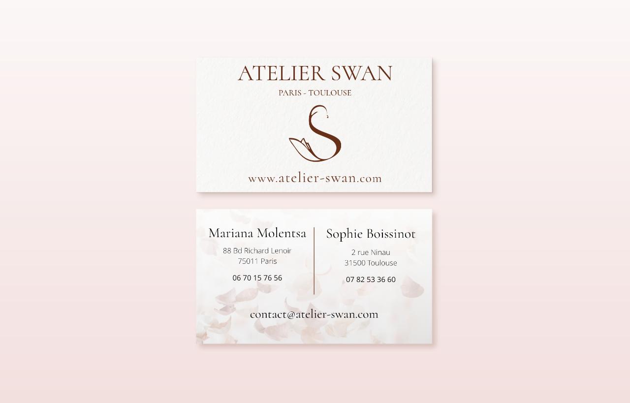 Atelier-swan.com card mockup