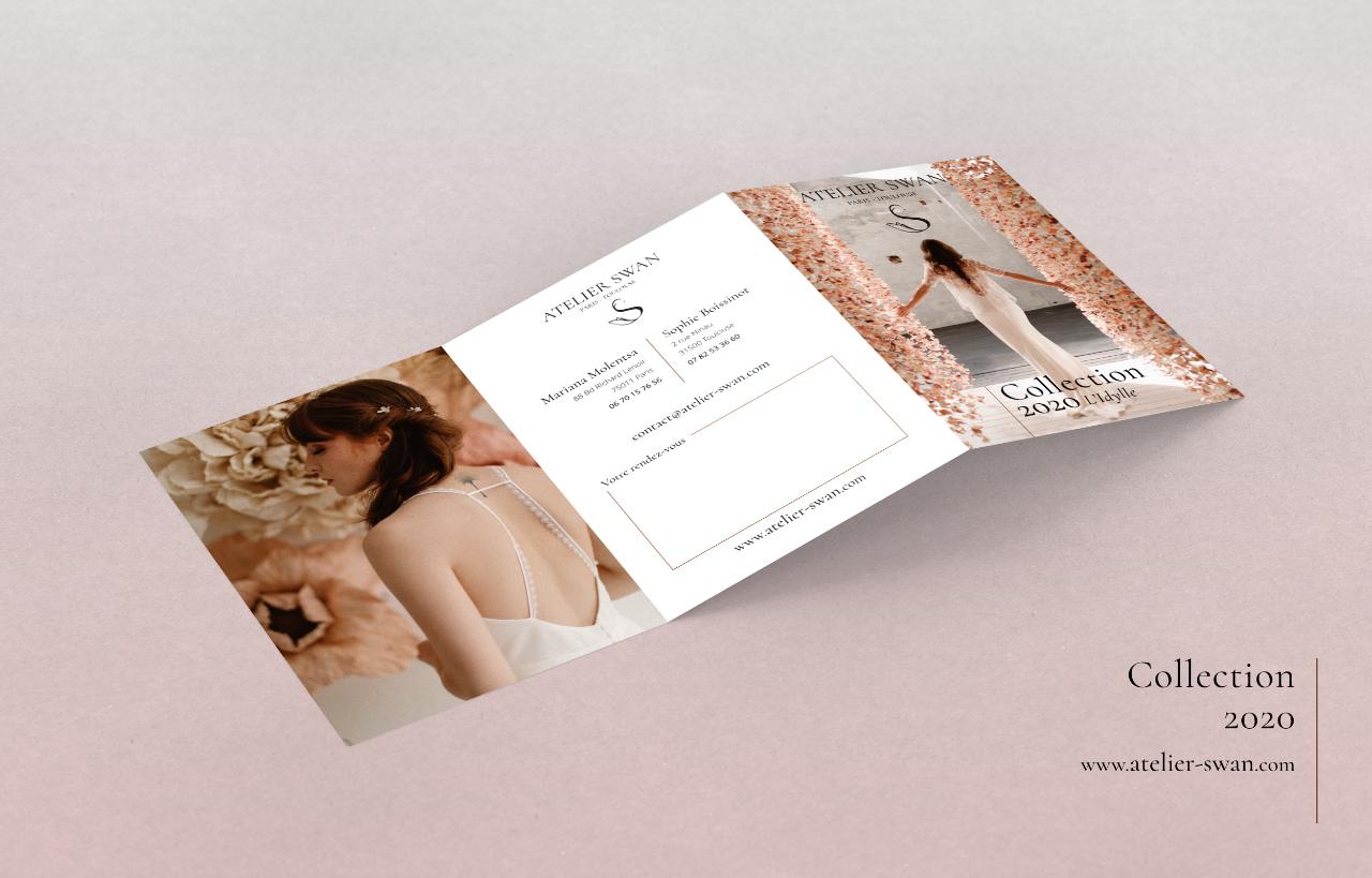 Atelier-swan.com leaflet mockup 1